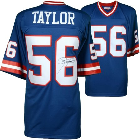 los angeles b372c 7cd38 Lawrence Taylor New York Giants Autographed Mitchell & Ness Blue Replica  Jersey - Fanatics Authentic Certified
