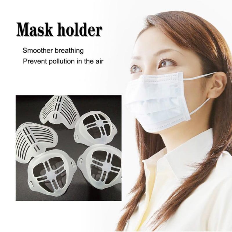 Nasal Face Mask Inner Support Bracket Frame Increase Breathing Space Help Breath Smoothly 5 Pack Makeup Protection Stand for Mask Thinktoo Mask Holder Bracket Nasal Pad Internal 3D Cool Mask Bracket