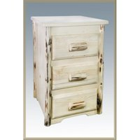 D2D Nightstand with 3 Drawers-Montana Collection-Lacquered