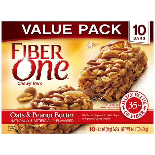 Fiber One® Oats & Peanut Butter Chewy Bars 10-1.4 oz. Wrappers