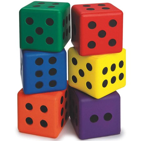 "S&S Worldwide Large 3"" Foam Dice, Set of 6"