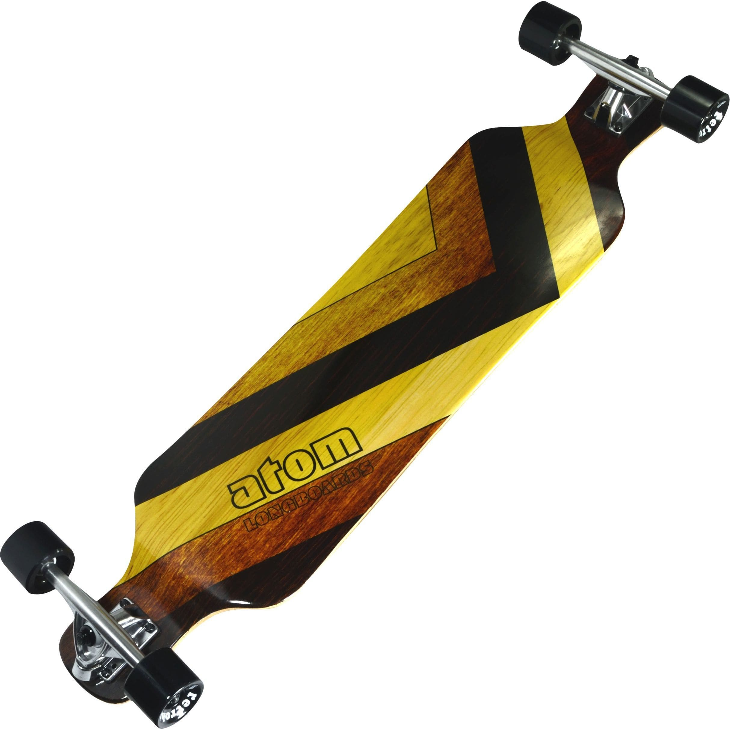 Atom Drop Deck Longboard 39 Inch (Woody) by Atom