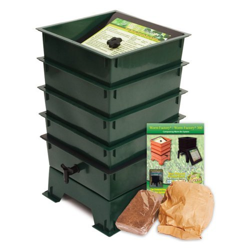 The Worm Factory® 4-Tray Recycled Plastic Worm Composter - Green