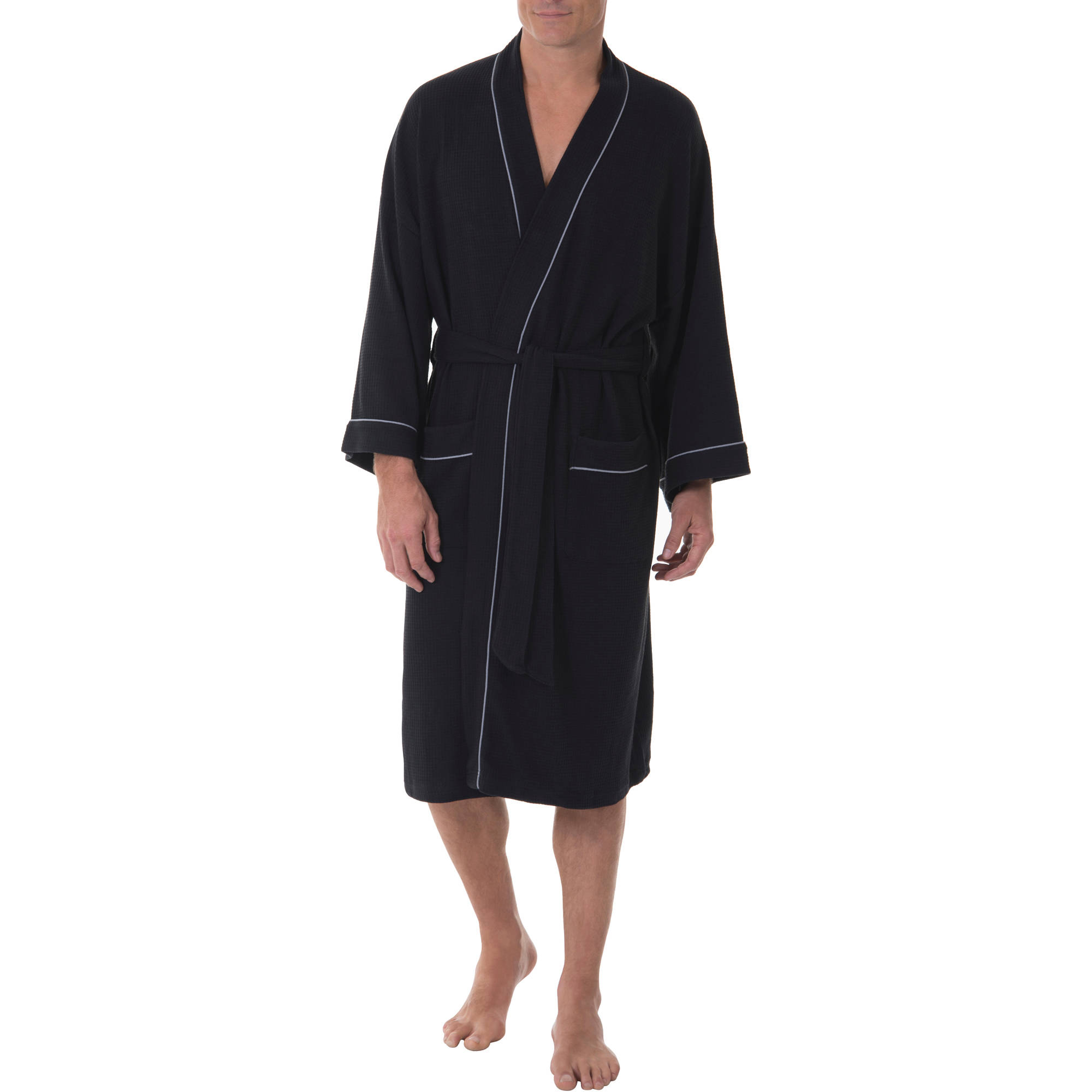 fruit of the loom menu0027s soft touch waffle robe - Mens Bathrobes