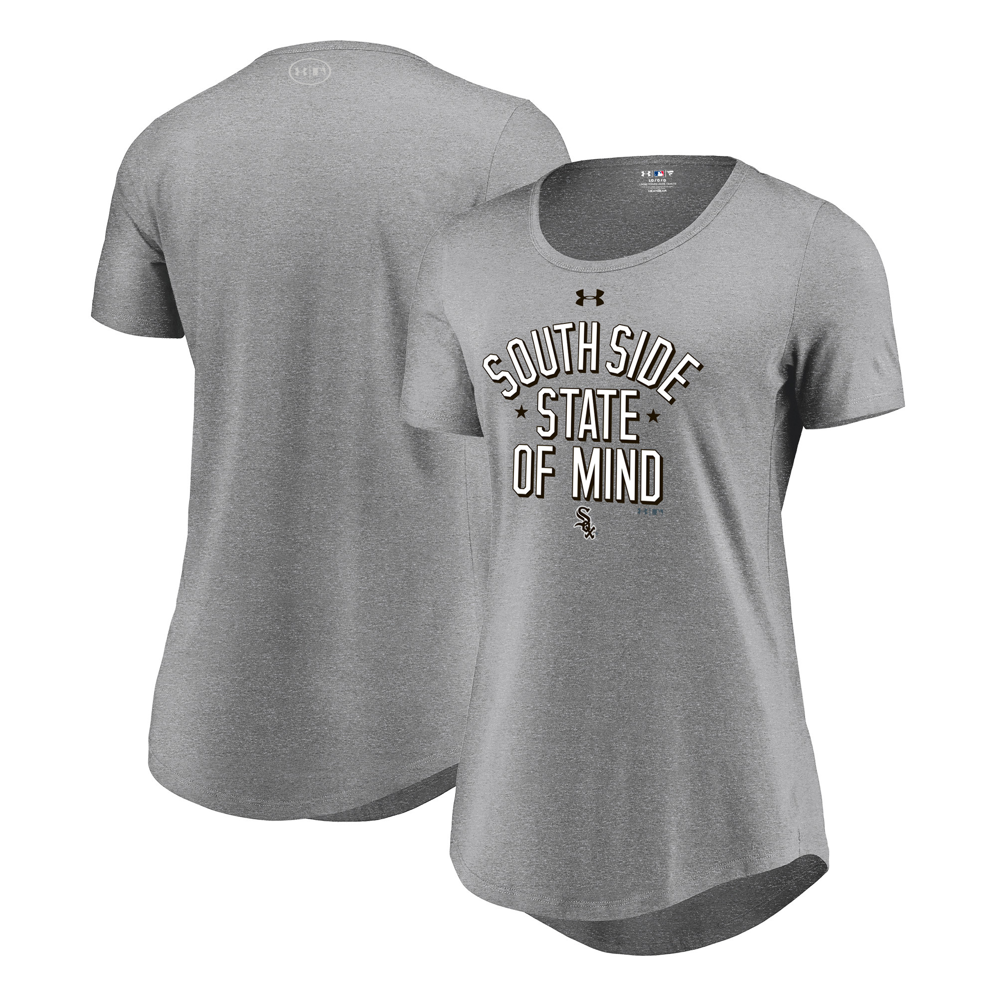 Chicago White Sox Under Armour Women's Passion State of Mind Performance Tri-Blend T-Shirt - Heathered Gray