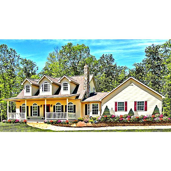 TheHouseDesigners-6641 Country House Plan with Crawl Space Foundation (5 Printed Sets)