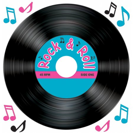New vinyl record and music notes peel 39 n place party wall for Vinyl record decoration ideas