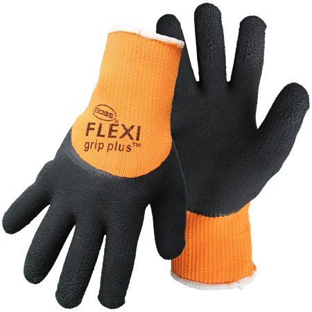 Boss Gloves 7842X Orange X Large Flexi Grip Plus High Vis Latex Palm