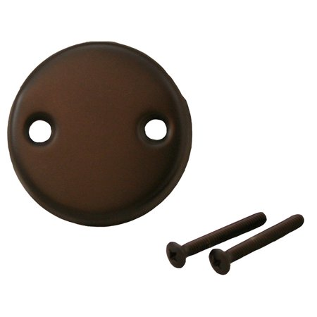 Overflow Faceplate - Oil Rubbed Bronze Two-Hole Overflow Faceplate with Screws ,PartNo T0813RB JonesS