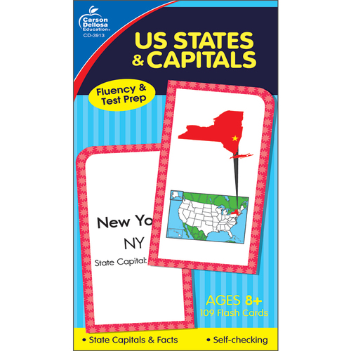 U.S. States & Capitals Flash Cards Grade 3-5