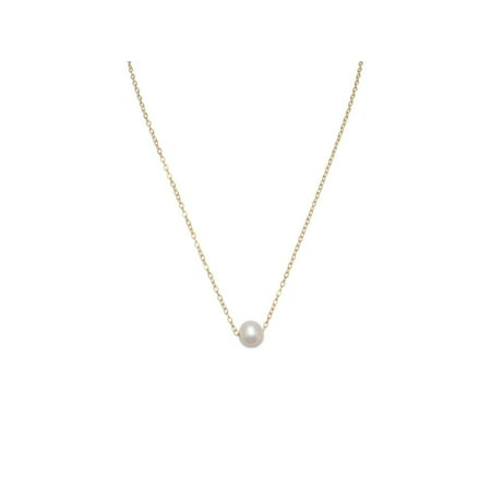 Single White Cultured Freshwater Pearl Necklace 14k Gold-filled