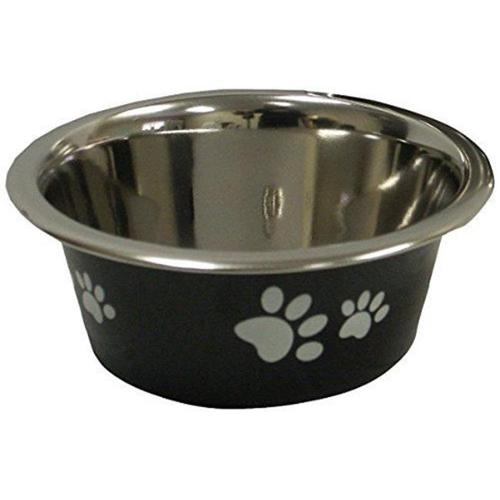 IMS 04211 New Cadet Stainless Steel Dog Bowl - 1-Pint, Black