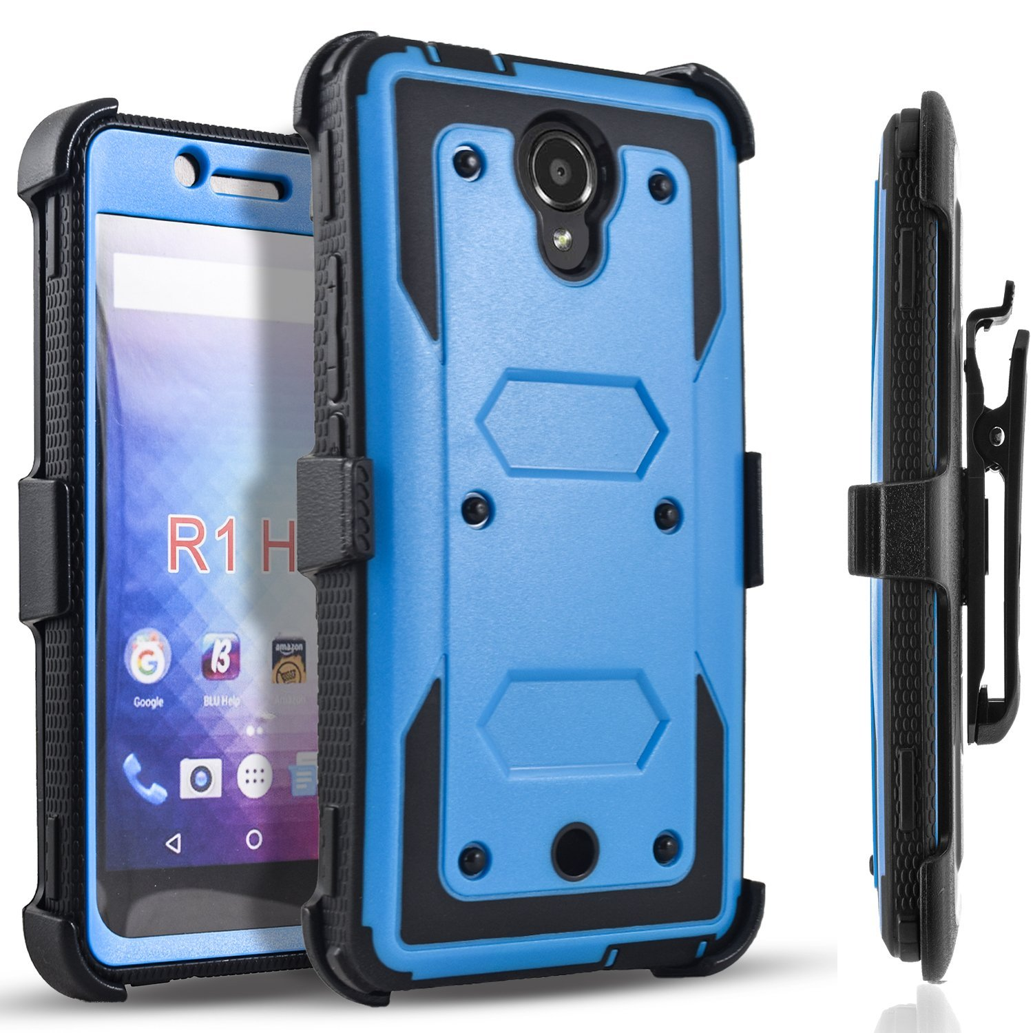 on sale 5393d 1c6fb ZTE Max Duo LTE Case, ZTE Imperial Max Case, [SUPER GUARD] Dual Layer  Protection With [Built-in Screen Protector] Holster Locking Belt  Clip+Circle(TM) ...