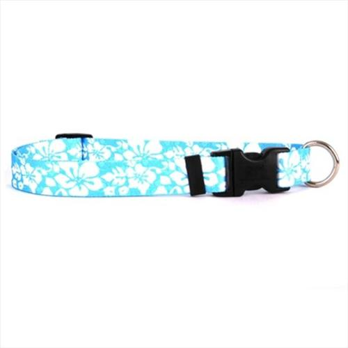 Yellow Dog Design IFB102M Island Floral Blue Standard Collar - Medium