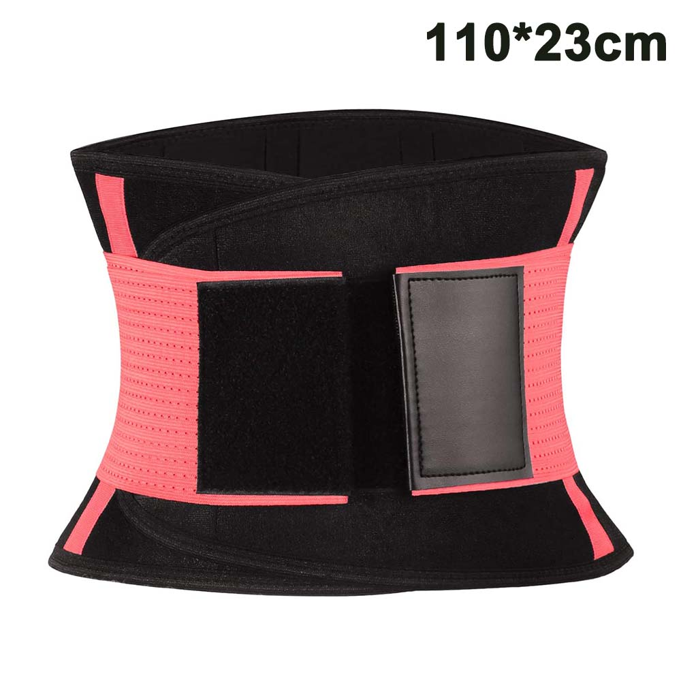 Details about  /Women Latex Waist Trainer Sports Trimmer Belt Girdle Tummy Control Workout Fajas