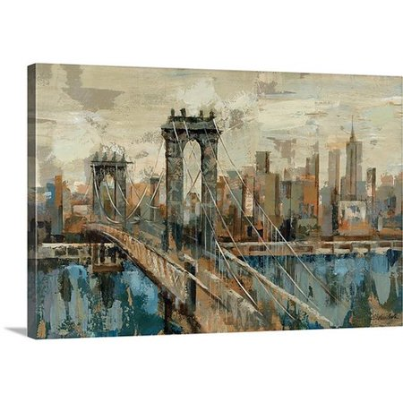 Canvas On Demand New York View By Silvia Vassileva Painting Print On Canvas