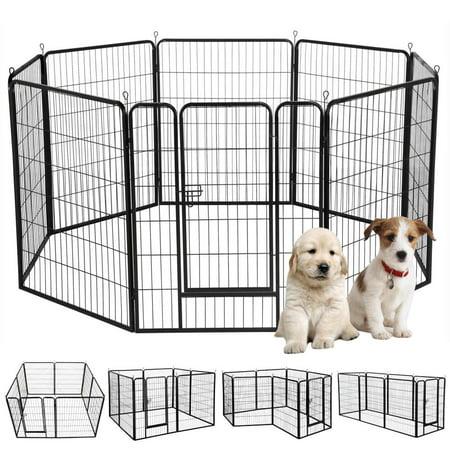 Proselect Exercise Pen - Metal Pet Dog Puppy Cat Exercise Fence Barrier Playpen Kennel(16 Panels/8 Panels)