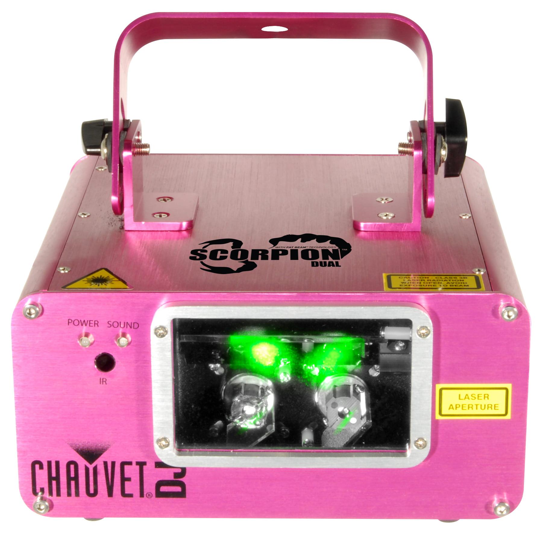 Chauvet Scorpion Dual DJ Lighting Green Laser Aerial Sky Effects Light Fixture