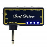 sonicake amphonix dutch gain modern hi-gain usb chargable headphone pocket guitar amp w/h built-in effects and aux input, usb chargable cable and 3.5mm male to dual 3.5mm female headset spliter includ