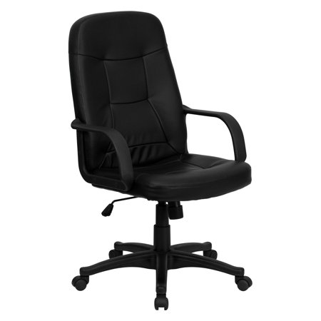 Flash Furniture High Back Executive Office Chair With Arms Black