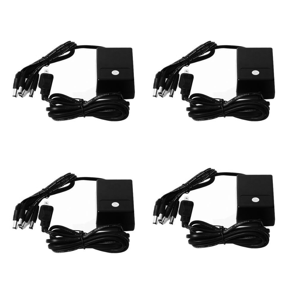 VideoSecu 4 Pack 4 Channel 12V DC 2000mA Power Adapter AC...