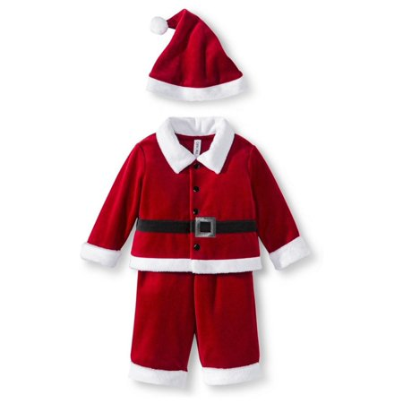 Cherokee Infant Boys 3-Piece Red Velvet Santa Claus Christmas Outfit - Christmas Outfit Boys