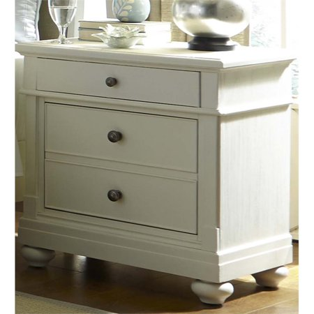 Liberty Furniture Harbor View II 2 Drawer Nightstand in Linen (Linen Night Stand)