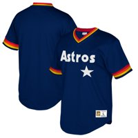 ffbc2428e7a Product Image Houston Astros Mitchell   Ness Big   Tall Cooperstown  Collection Mesh Wordmark V-Neck Jersey