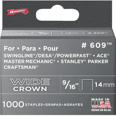 Heavy Duty Wide Crown Staples - Arrow Heavy-Duty Wide Crown Staple