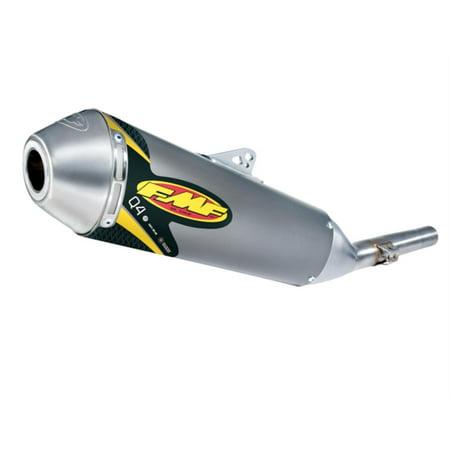 FMF Racing 044398 Q4 Spark Arrestor Slip-On - Hexagonal Muffler - Stainless Midpipe