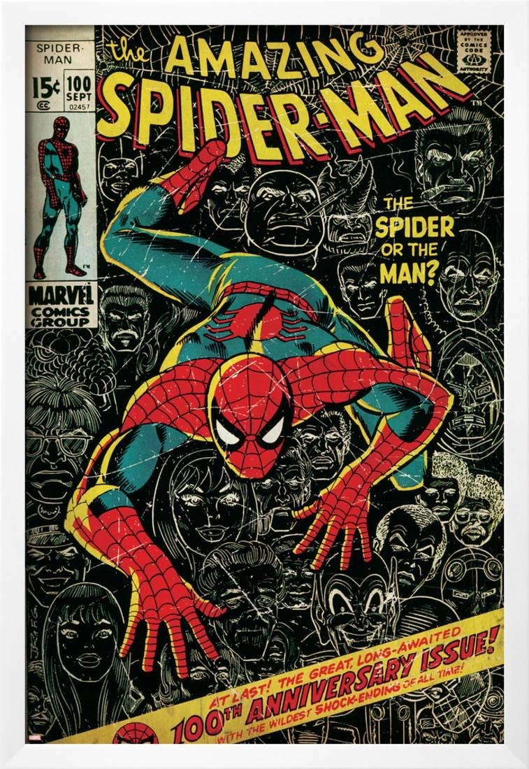 Marvel Comics Retro: The Amazing Spider-Man Comic Book Cover No.100 ...