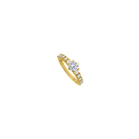 Gorgeous CZ Solitaire Engagement Ring in Yellow Gold - image 4 of 4