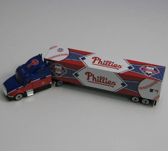 2010 MLB 1:80 Scale Tractor Trailer Philadelphia Phillies Philadelphia Phillies TRB10PHI by Press Pass