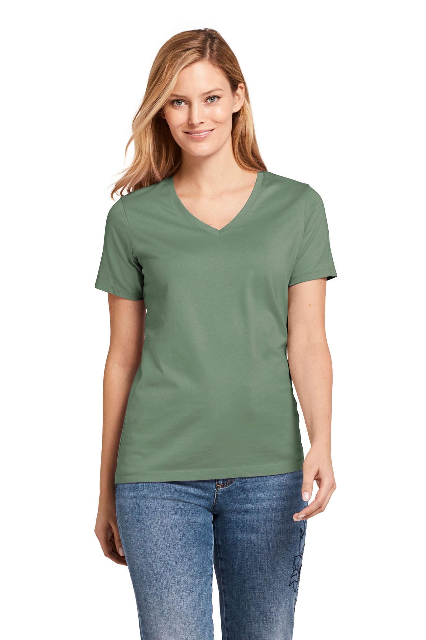 Women's Relaxed Supima V-Neck T-Shirt