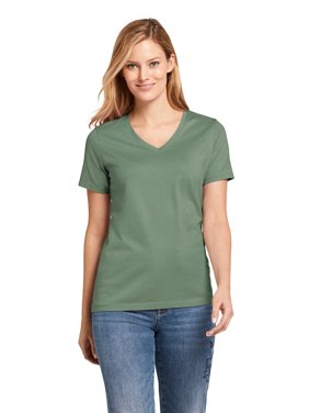 82aa5a5925be Product Image Women's Relaxed Supima V-Neck T-Shirt. Product TitleLands'  EndWomen's ...