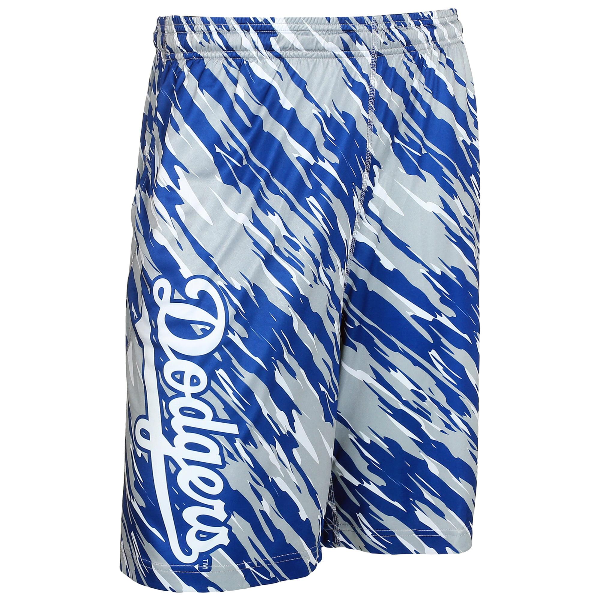 Los Angeles Dodgers Repeat Print Shorts - Royal/White