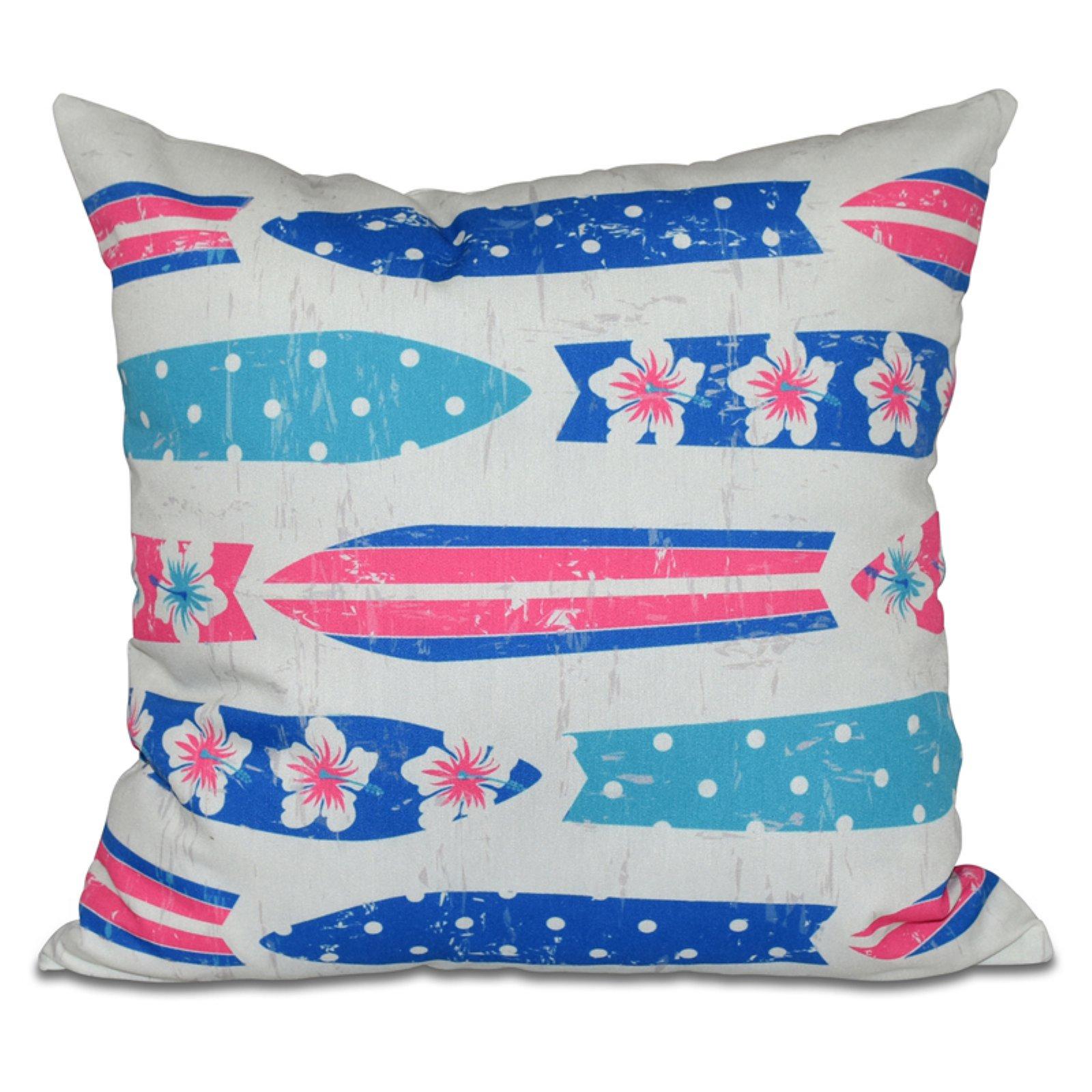 E by Design Hang Ten Dean Square Decorative Pillow