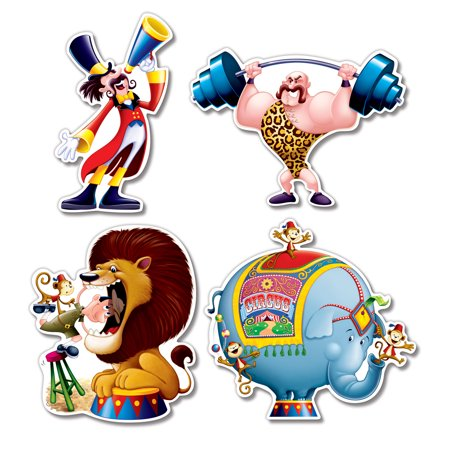 Circus Cutouts(4/Pkg) - image 1 de 1