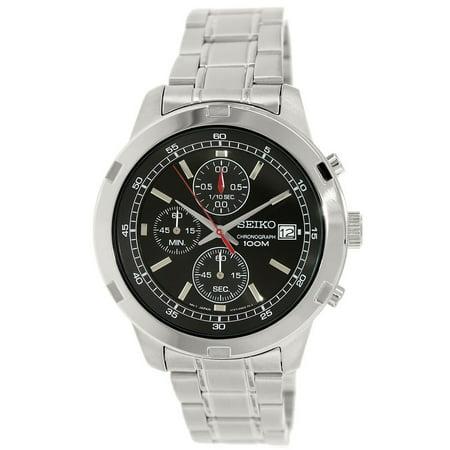 SKS421 Men's Black Dial Stainless Steel Bracelet Chronograph Watch ()
