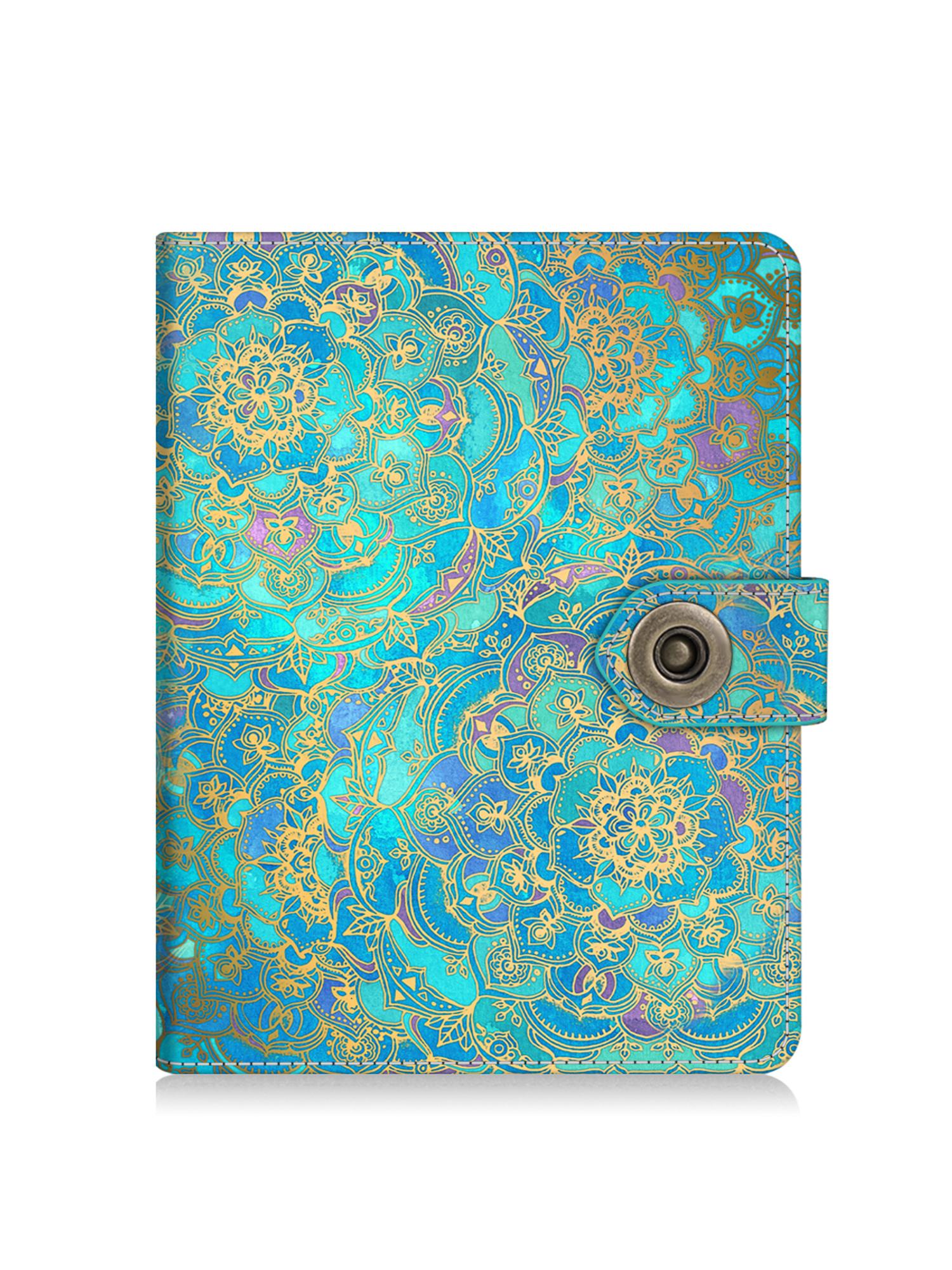 Fintie Passport Holder Travel Wallet Case - Premium Vegan Leather RFID Blocking Cover with Snap Closure, Shade of Blue