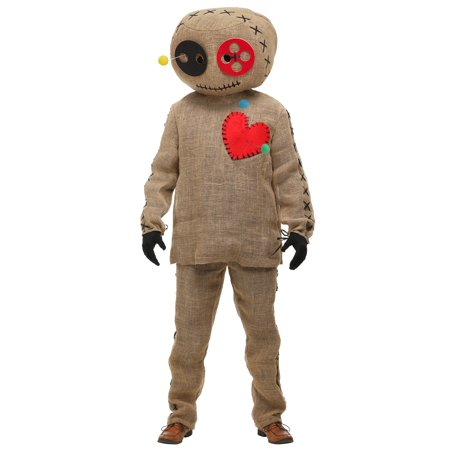 Adult Burlap Voodoo Doll Costume - Plus Size Voodoo Doll Costume