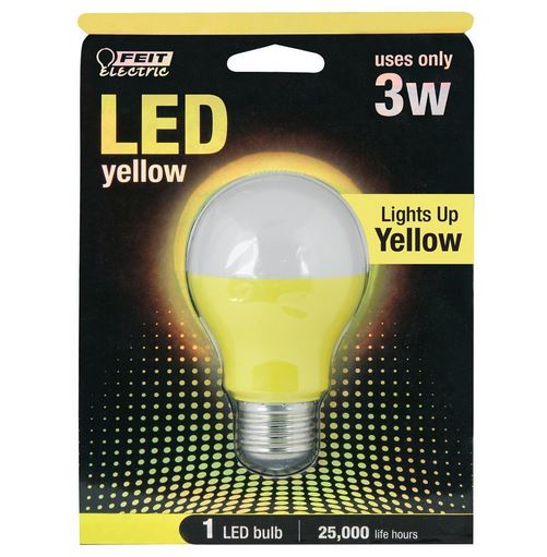 FeitElectric 3W Yellow 120-Volt LED Light Bulb