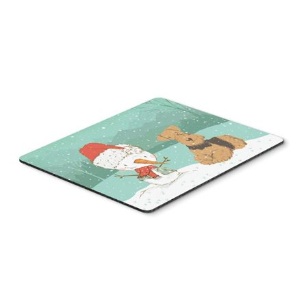 Carolines Treasures CK2078MP Airedale Terrier Snowman Christmas Mouse Pad, Hot Pad or Trivet - image 1 de 1