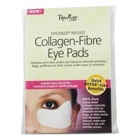 Myoxinol Infused Collagen-Fibre Eye Pads - 3 Pack(s) by Reviva Labs (pack of 1)