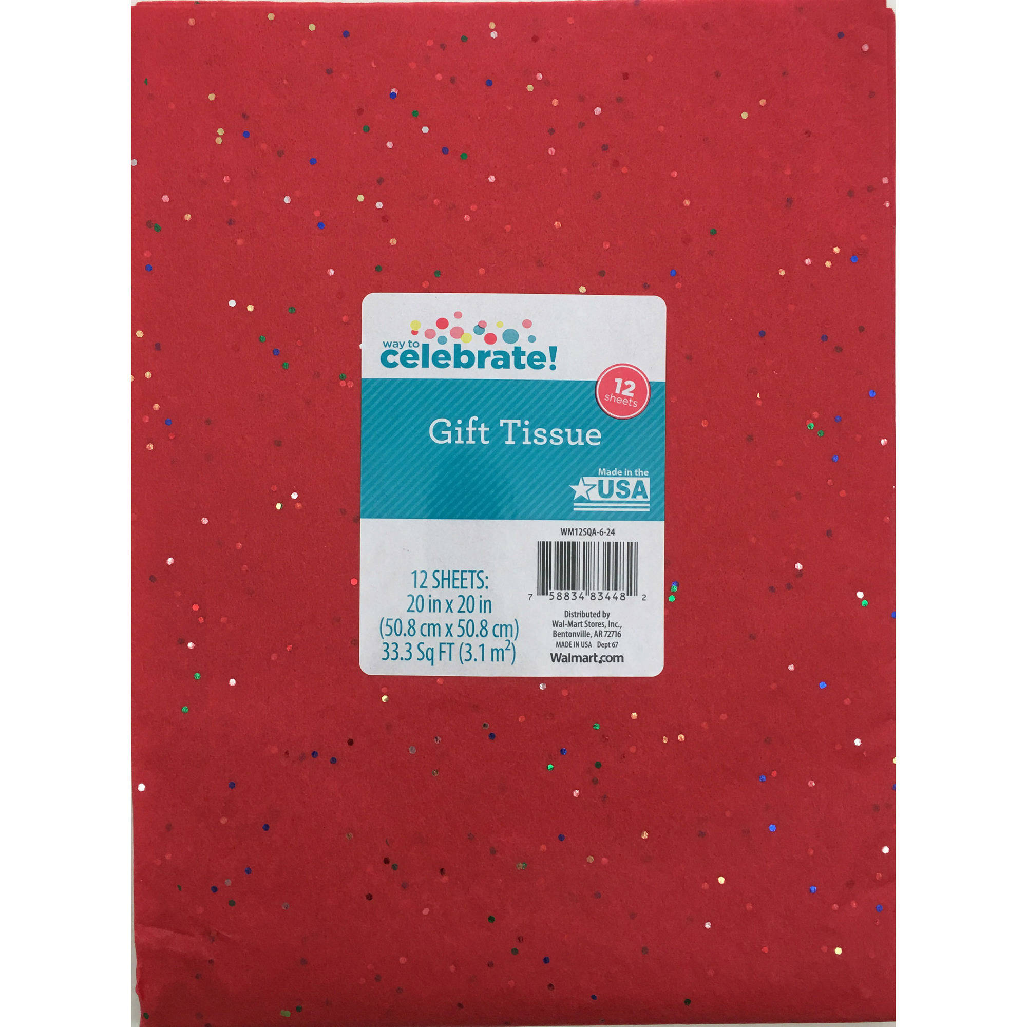 12 count Red Sequince Tissue