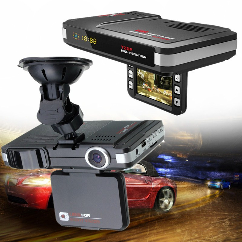 2 IN 1 HD 720P 2.0inch G-Sensor LCD Display Car DVR Recorder Camera Dash Cam + Radar Laser Speed Detector Trafic Alert