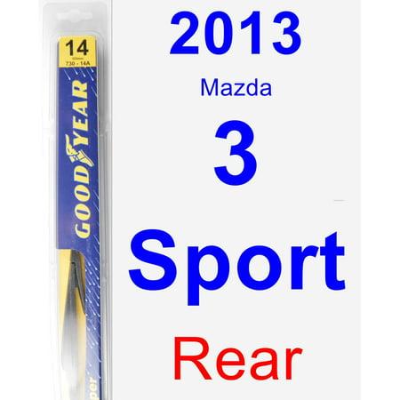 2013 mazdaspeed 3 wiper blade size