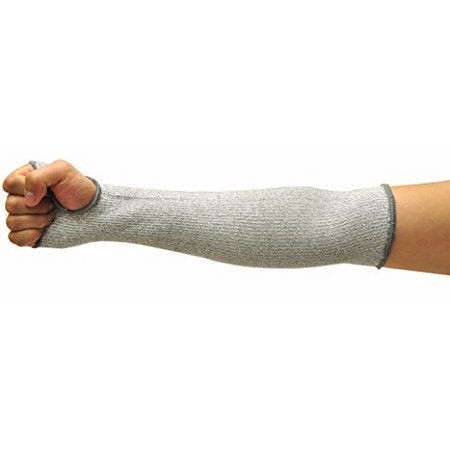 G & F 58122XL CUTShield 14-Inch Long Sleeve with Thumb Hole, Cut Resistant Level 5, Slash Resistant Sleeve(Larger Arm Width compared to size Large), Grey, X-Large, 1 Piece