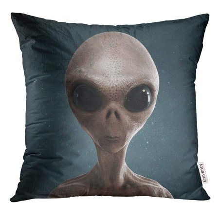 USART Blue UFO Alien 3D Gray Eye Pillow Case 20x20 Inches Pillowcase - Grey Alien Mask