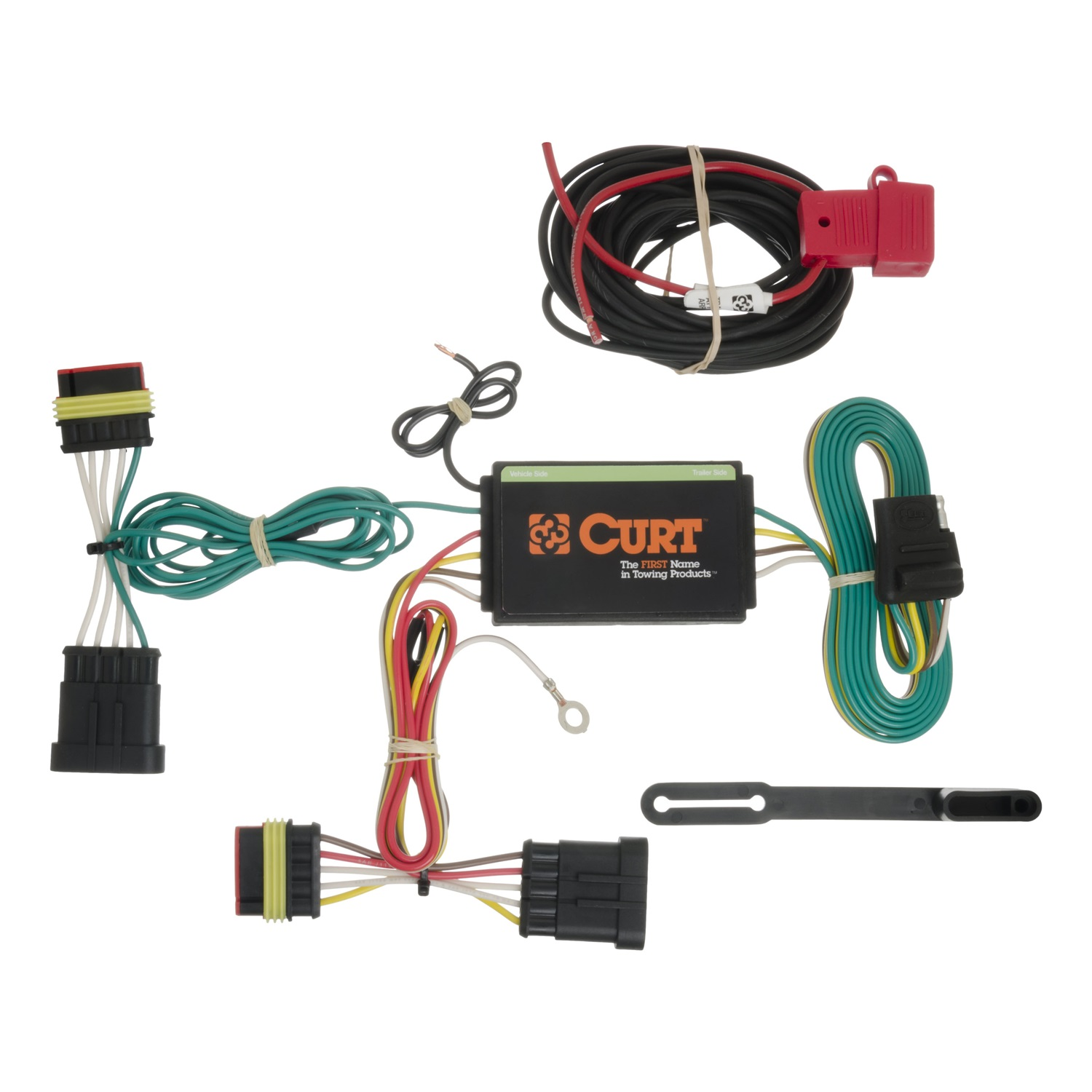 CURT T-Connector, 3 wire system, powered converter included